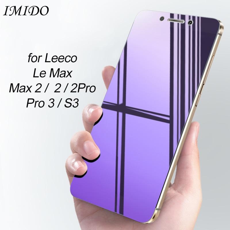 Full Cover Anti Blue Screen Protector For Letv Le Max 2 Pro 3 AI S3 1S Eco Tempered Glass For LeEco Le Max 2 Pro 3 AI S3 Film