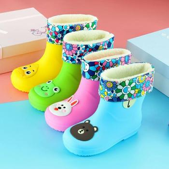 New Color Cartoon Rain Boots Kids For Boys Rain Boots Waterproof Baby Girls Non-slip PVC Rubber Water Shoes Children Rainboots 2019 ladies waterproof yellow rain boots female knee high fashion women rubber rain boots girls shoes rainboots pvc rain shoes
