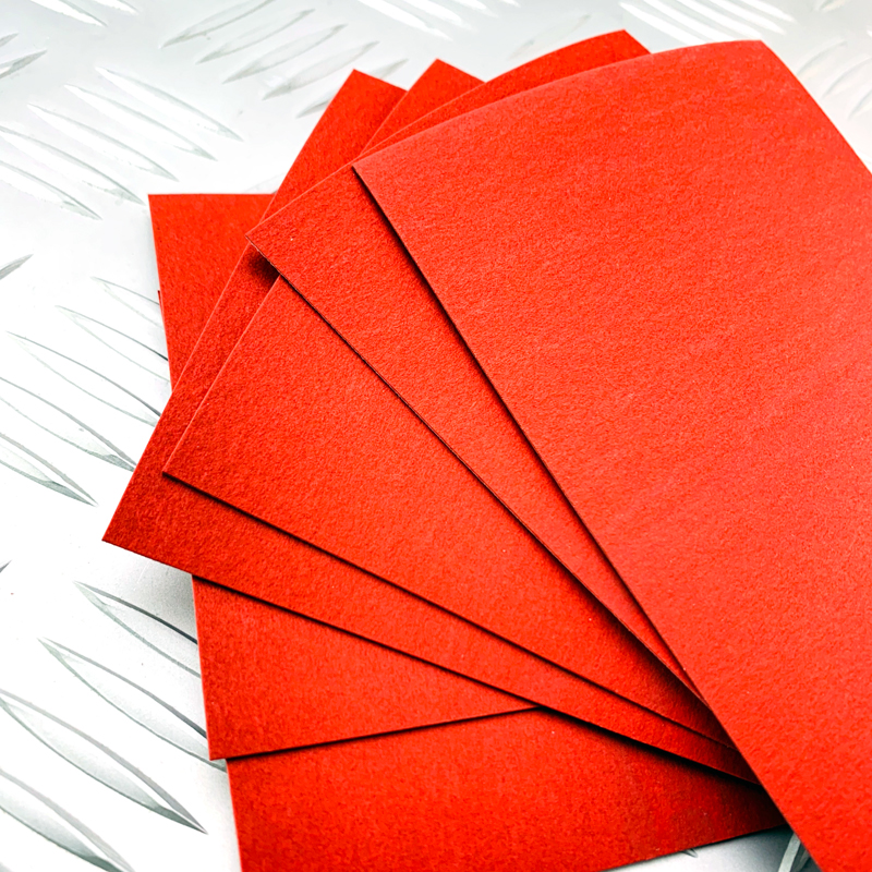 2pieces Red Vulcanized Fibe Paper Handle Spacer Material Making Diy Knife Shank Accessories Material 180x80x1mm