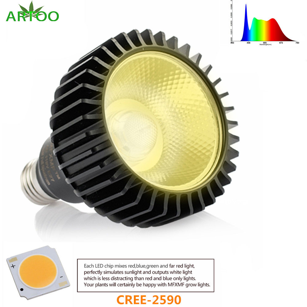 CREE-CXB 2590 E27 Led Grow Light Full Spectrum 3500K 85-265V 1500LM For Indoor Plant Vegetables Grow Lamp  Hydroponics Grow Tent