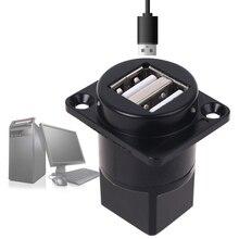 مقبس USB معدني من النوع D ، مقبس USB 2.0 أنثى إلى أنثى ، لوحة تثبيت