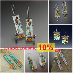 Bohemian Painted Leaf Flower Blue Earrings for Women Tribal Jewelry Handmade Crystal Vintage Dangle Earring Pendientes