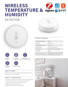 Image 5 - Zigbee Intelligente Senza Fili Rilevatore di Temperatura E Sensore di Umidità, Funzionamento A Batteria, Tuya casa intelligente app remote