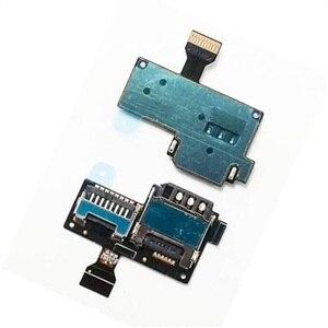 Sim sd cartão bandeja titular conector cabo flexível para samsung galaxy s4 mini GT-I9190 i9192 i9195 peças de reparo