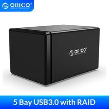 ORICO 5 Bay 3.5 ''USB3.0 z RAID stacja dokująca HDD 78W zasilacz obudowa dysku twardego wsparcie magnetyczne 5gbps UASP obudowa HDD