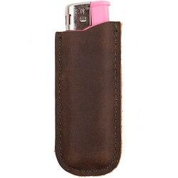 Skórzana torba na zapalniczkę z prawdziwej skóry na jednorazową zapalniczkę wysokiej jakości zapalniczka olejowa na prezent dla mężczyzny