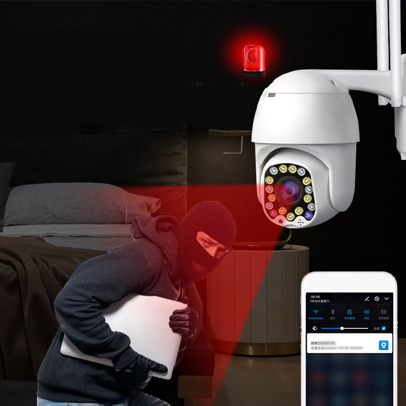 Infrared Night Vision Wifi Wireless IP Camera 360° Wide Angle Rotation Home Security Mobile Phone Network Video Surveillance