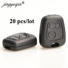 Jingyuqin 20pcs para Toyota Peugeot 107, 206, 207, 306, 307, 407 Citroen C1 C4 coche llave Fob de reemplazo 2BTN caso remoto No logo