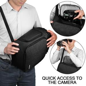 Image 4 - Caden Camera Bag Rugzakken Schouder Sling Bag Waterdichte Nylon Schokbestendig Krasbestendig Dslr Mannen Vrouwen Voor Canon Nikon Sony