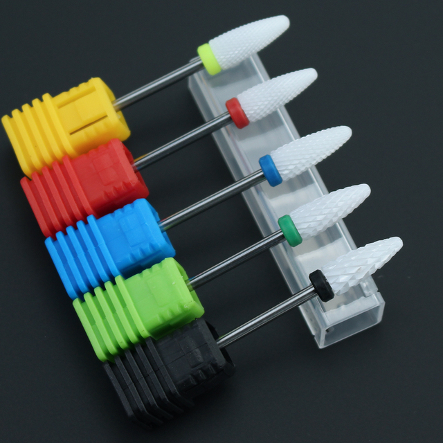 Ceramic Nail Drill Bit Electric Milling Cutter for Manicure Pedicure Nail Drill Machine Accessoires Nail Art Tool Polish Remove 2