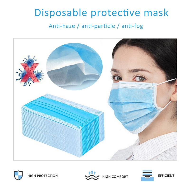 Full Stock Disposable Face Mask Anti-Dust Surgical Face Masks Ply Respirator  3 Laye Surgical Mask 20/50/100PCS