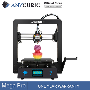 ANYCUBIC Mega Pro 3D Printer Printing Laser Engraving Touch Screen Printing TPU Filament Dual Gear Extruder 3D Laser Printer