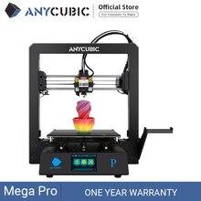 Anycúbico mega pro impressora 3d impressão a laser gravura da tela de toque impressão tpu filamento dupla engrenagem extrusora impressora a laser 3d