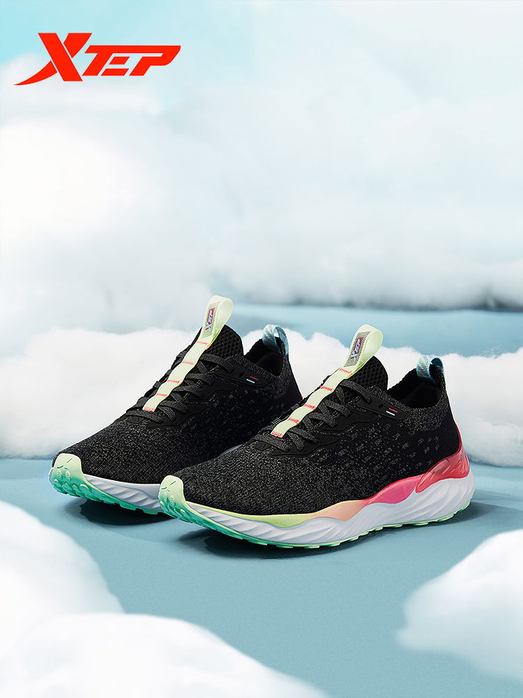 Xtep Clound femmes chaussures de course femme lumière respirant baskets sport marche athlétique maille Sneaker chaussures 981318110772 - 3