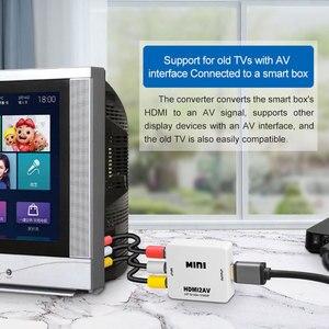 Image 4 - Felkin hdmi av/rca cvbs アダプタ 1080 1080p ビデオコンバータ HDMI2AV アダプタコンバータボックスサポート ntsc pal 出力パソコンの hdtv 用 dvd