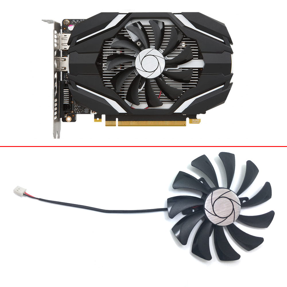 HA9010H12F-Z 85MM 0.57A 2Pin PC Cooling fan GPU Cooler Fan For MSI Geforce GTX 1050 2G GTX 1050Ti 4G OC Graphic Card Cooling image