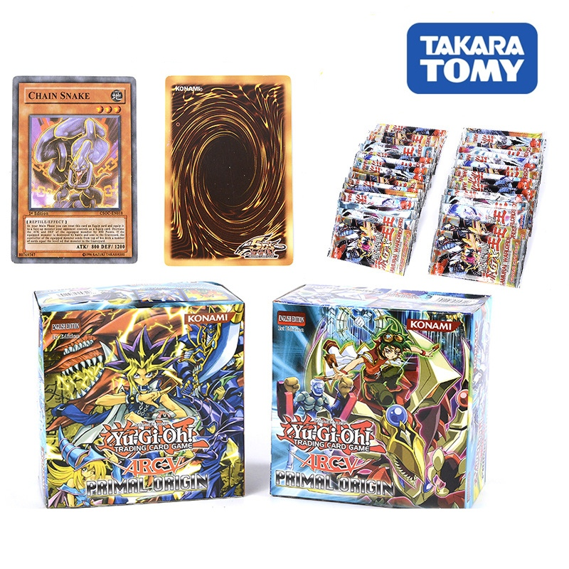 288pcs/box Duel Monsters Card Takara Tomy 36 Packs Yu-Gi-Oh Anime Game Collection Cards Kids Toys