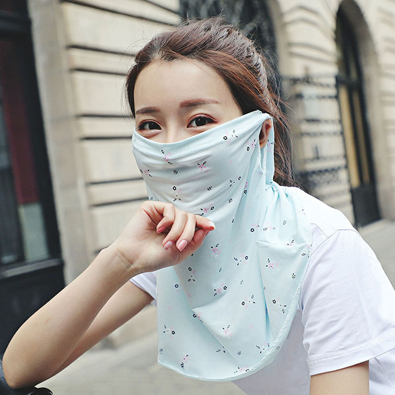 Girl Sunscreen Mask Spring Summer Outdoor Mask Lady Uv Breathable Thin Section Increase Shadow Collar Shawl Veil