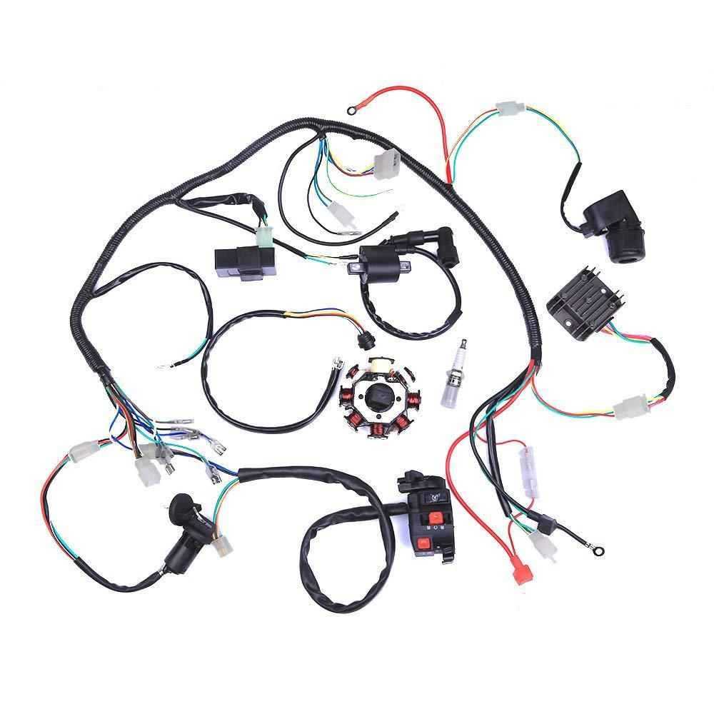 HiMISS Electric Wiring Harness Wire Loom <font><b>CDI</b></font> Stator Assembly for <font><b>ATV</b></font> <font><b>QUAD</b></font> 125CC-<font><b>250CC</b></font> image