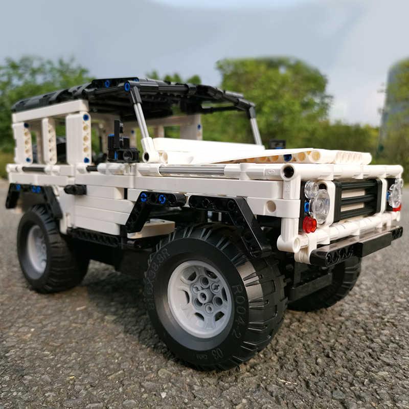 เข้ากันได้กับ Legoed Technic Series 2.4G RC รถ Moc บล็อกอาคาร Defender อิฐ DIY Off-Road รถบรรทุกของเล่นเด็ก