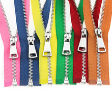 5# 60/70/80/90/100/120/150 cm Metal Zipper Platinum Open-End Auto Lock zippers for sewing clothing