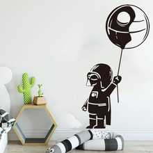 Star Wars Death Baby Nursery Wall Sticker Inspired Darth Vader Balloon Home Decor Beauty Poster Mural W621