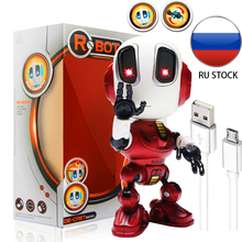 Charging Robots Toys Mini Talking Smart Robot For Kids Educational Toy For Children Humanoid Robot Toy Sense Inductive