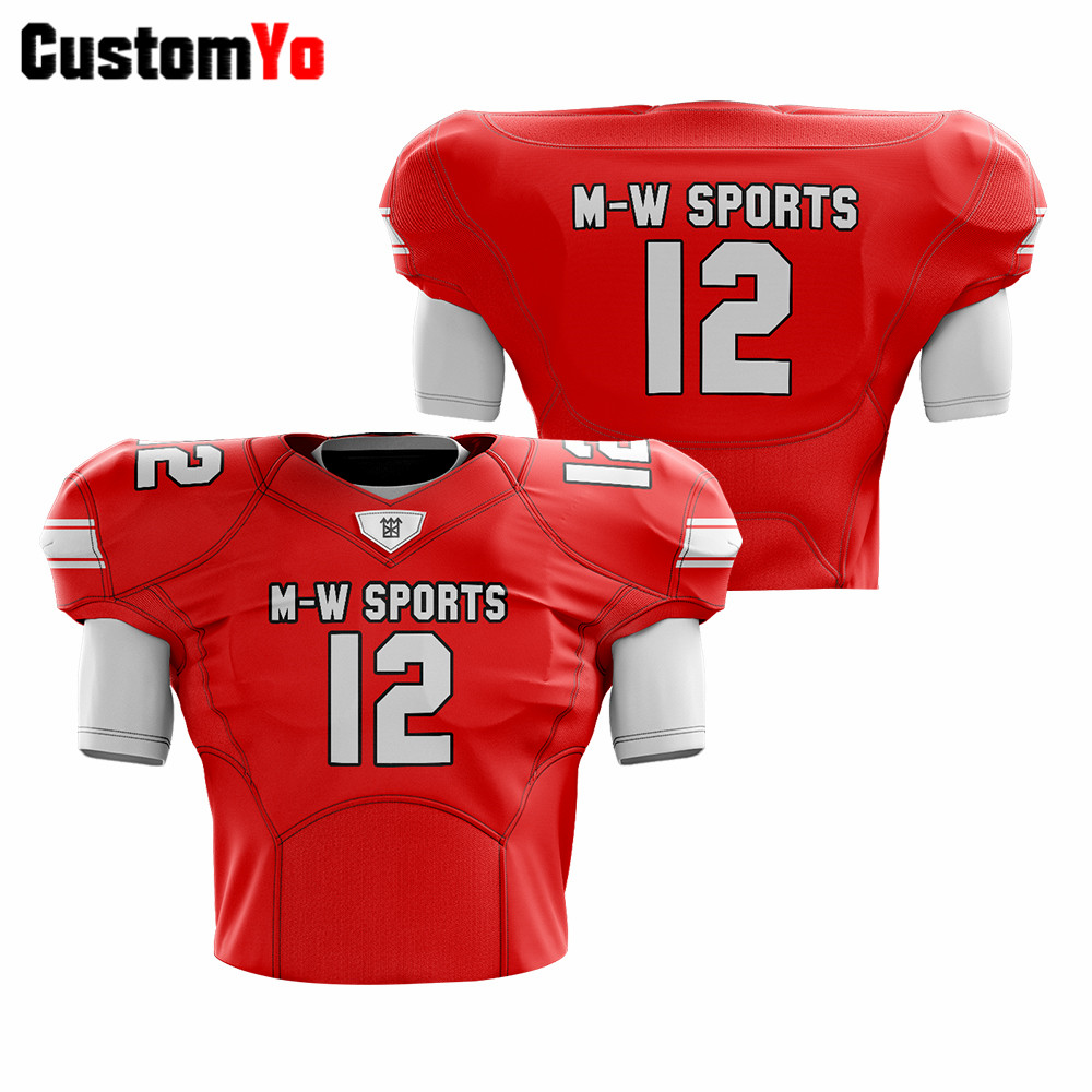 Fast Delivery College Training Football Jerseys Professional Customized American Football Jersey image