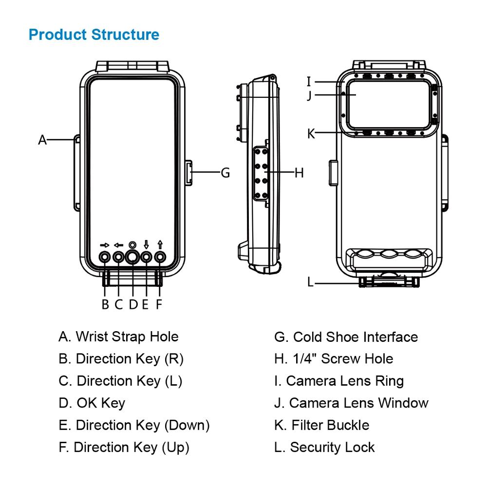 PULUZ 45m Waterproof Diving Housing Photo Taking Underwater Cover Case for Huawei Xiaomi Android OTG Smartphone with Type-C Port