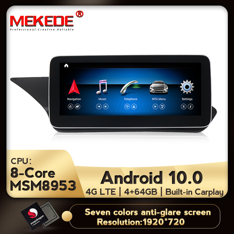 Android10.0 4+64G 4G Lte Car GPS Navigation Multimedia Player For Mercedes Benz E Class W212 E200 E230 E260 E300 S212 2009-2015