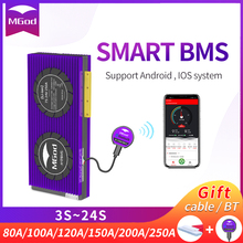 Smart BMS 3S 24S Li Ion LiFePo4 18650 battery With Free BlueTooth  PCBA balance 4S 100A 8S 16S 200A 20S For Lithium BatteryPack