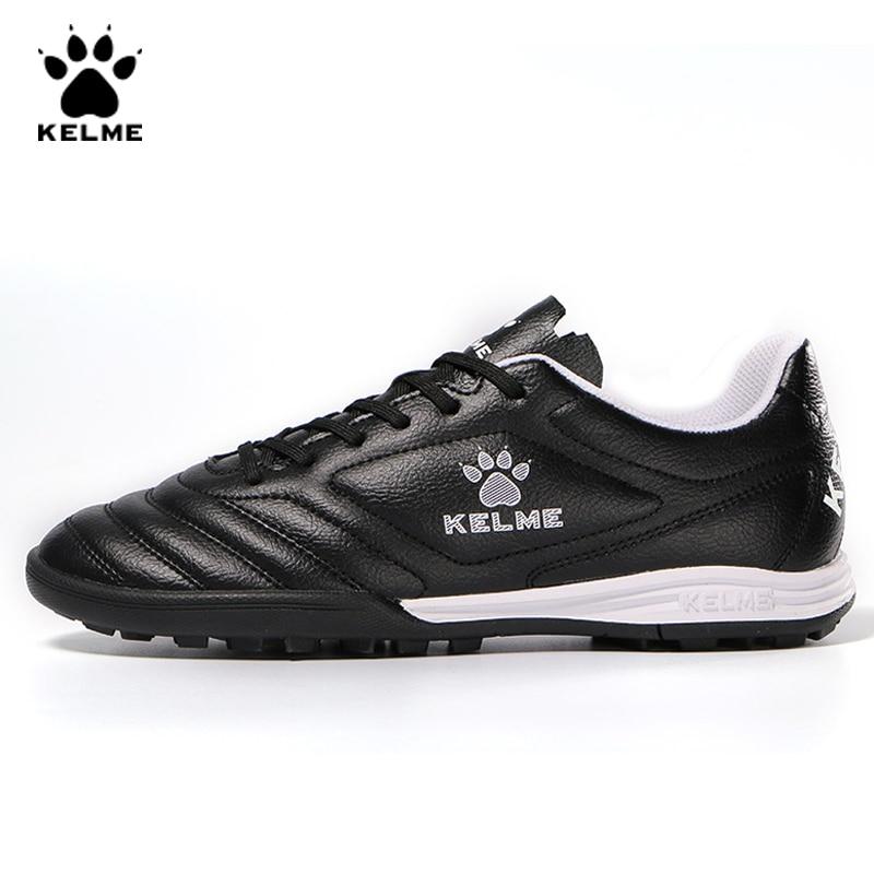 KELME Professional Futsal Football Boots Soccer Shoes Original Football Cleats TF Black Sneakers Men Soccer Futsals 871701