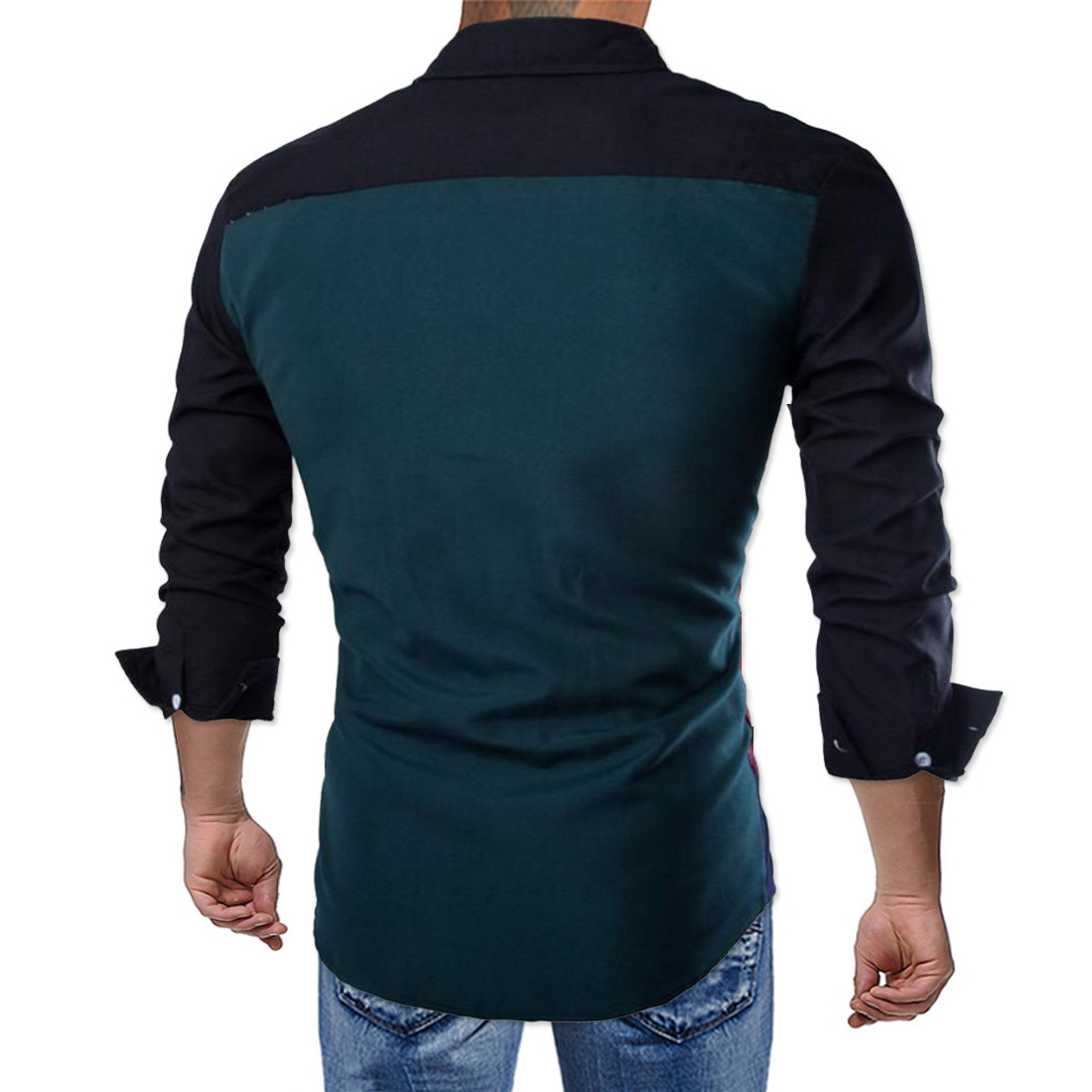2019 New Style Fashion Color Stripes MEN'S Shirt England Mixed Colors Long-sleeve Blouse J-y097