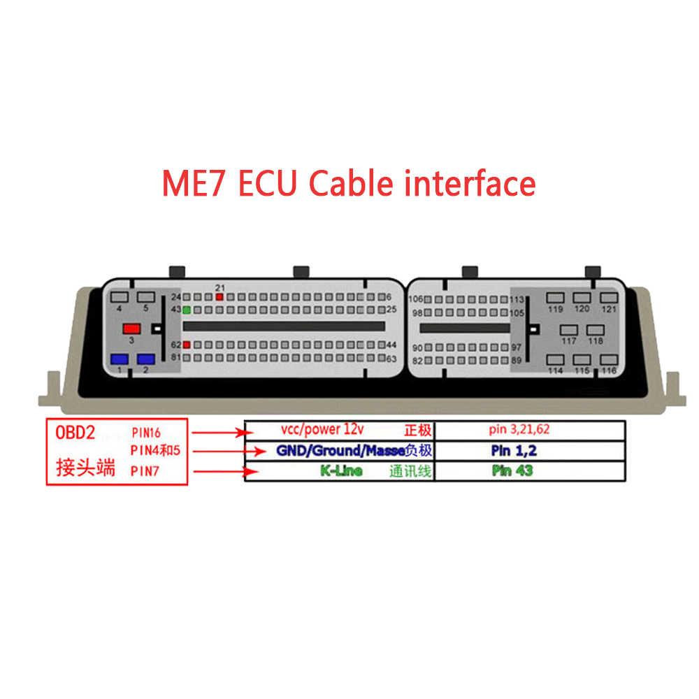 Câble de Diagnostic de 81 bornes ME7 ECU adaptateurs OBD câble d'extension Automobile OBD2 pour véhicules à essence du groupe VAG