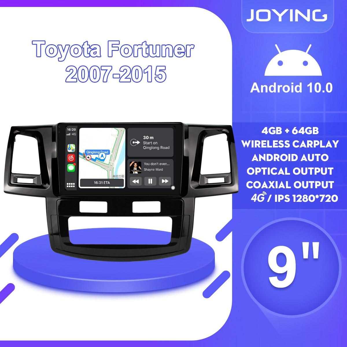 9 Inch Radio 1Din Stereo Android 10 Kopf Einheit Band Recorder DVR Für Toyotal Fortuner HILUX Revo Vigo 2007 2015 multimedia-Player