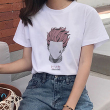 Summer Anime HxH Tee Harajuku T-shirt Hunter X Hunter Print T-shirt Women's T-shirt O-neck Short Sleeve Hisoka Morow Tshirt
