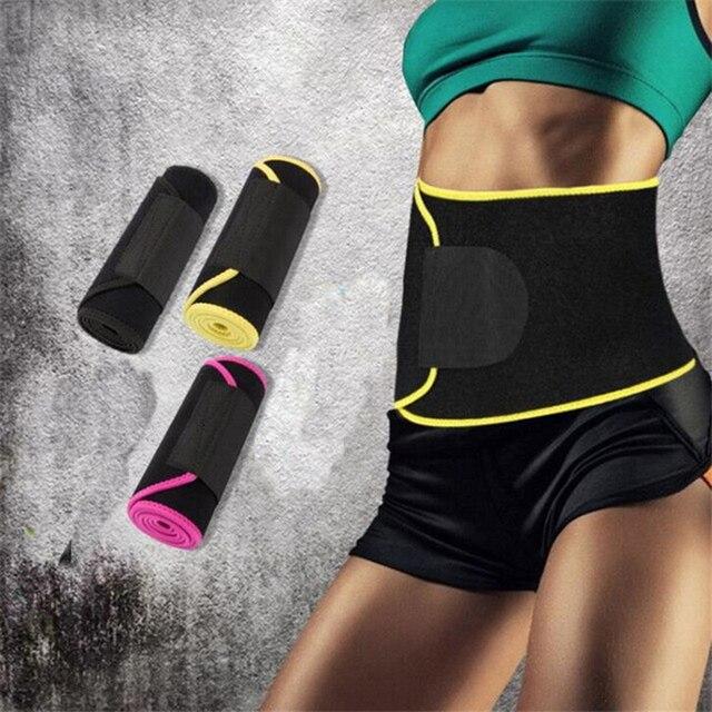Adjustable Waist Support Waist Trimmer Belt Weight Loss Sweat Band Wrap Fats Tummy Stomach Sauna Sweat Belt For Walking Jogging- 3