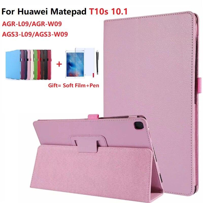 Чехол для Huawei Matepad T10S, чехол для планшета 10,1 дюйма, откидная подставка из искусственной кожи для Matepad T10, 9,7 дюйма, чехол с мягкой пленкой и стил...