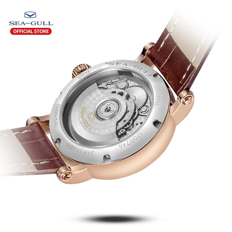 Image 3 - SEA GULL Business Watches Mens Mechanical Wristwatches Week Calendar 50m Waterproof Leather Valentine Male Watches 819.11.6041Mechanical Watches   -