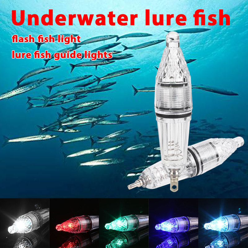 Waterproof Deep Drop Underwater Fish Attracting Lure LED Fishing Flash Light Bait Transparent Use In 300M Under Water