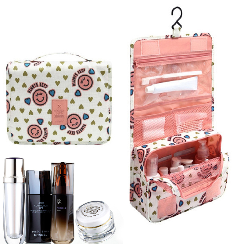Beautician Make Up Bag Travel Cosmetic Bag Toiletry Bag Organizer Quick Makeup Bag Purse Pink Makeup Pouch Waterproof Handbag