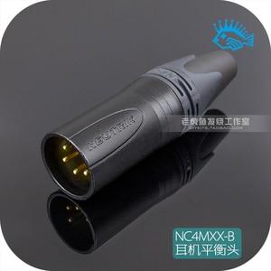 1 шт. Swiss Neutrik NC4MXX-B четырехъядерный XLR cannon сбалансированный штекер HD650 наушники
