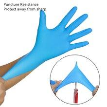 Одноразовые нитриловые резиновые перчатки для мытья посуды 50