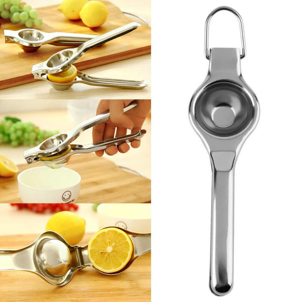 Dapur Bar Stainless Steel Lemon Orange Kapur Pemeras Manual Juicer Tangan Tekan Peralatan Masak Dapur Jus Segar Alat