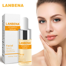 LANBENA Vitamin C Face Serum Whitening Liquid Repair Anti-Aging Fade Spots Removing Freckle Treatment Winkles Skin Face Care цена