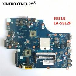 NEW75 LA-5912P Laptop motherboard Para Acer aspire 5551 5551G 5552 5552G E640 MBNA102001 Mainboard MB.NA102.001 DDR3 100% testado