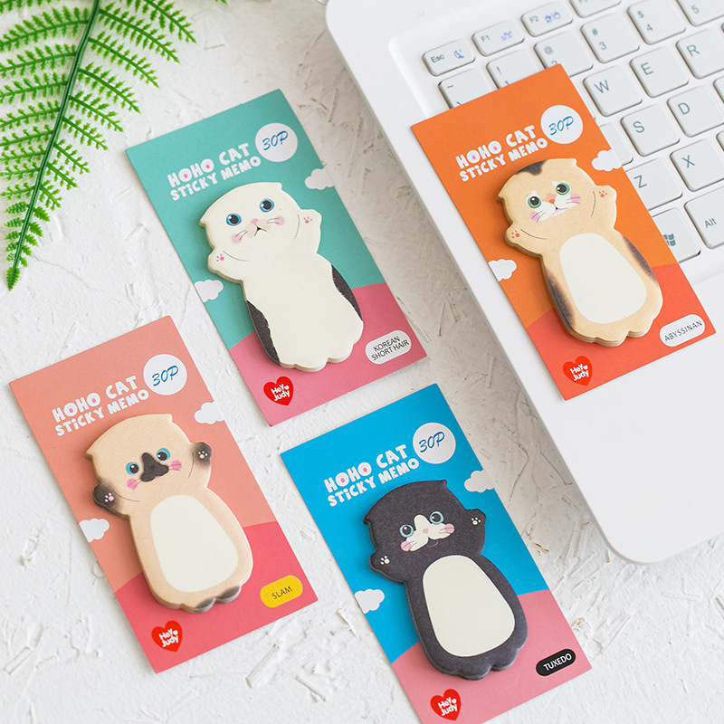 1 Pcs Paper Memo Pad Cute Cat Series Sticky Note Memo Sheets Student Message Sticker Scrapbooking Label School Stationery