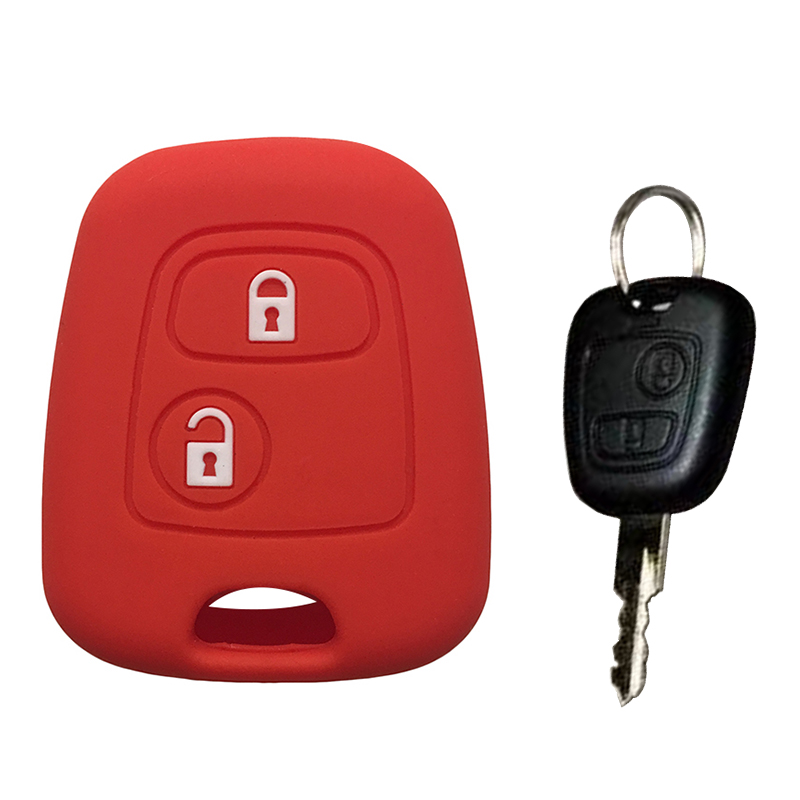 For Peugeot 107 Silicone Key Case For Peugeot 106 206 207 307 Key Cover Remote Control Car Key Cover Case Protection Shell Fob