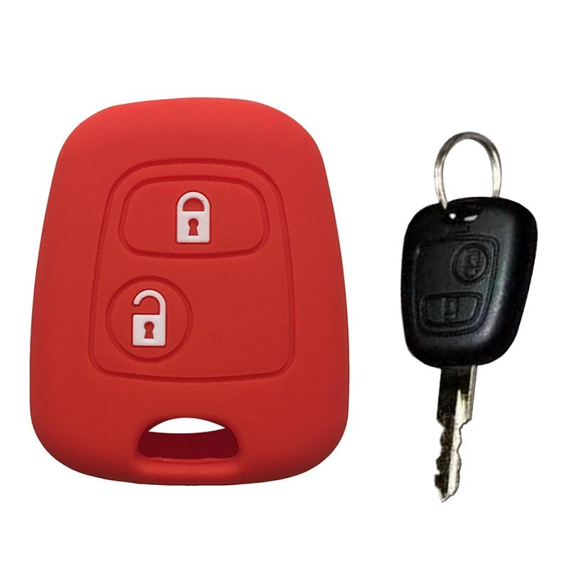 Силиконовый чехол для ключа для Peugeot 107 106 206 207 307