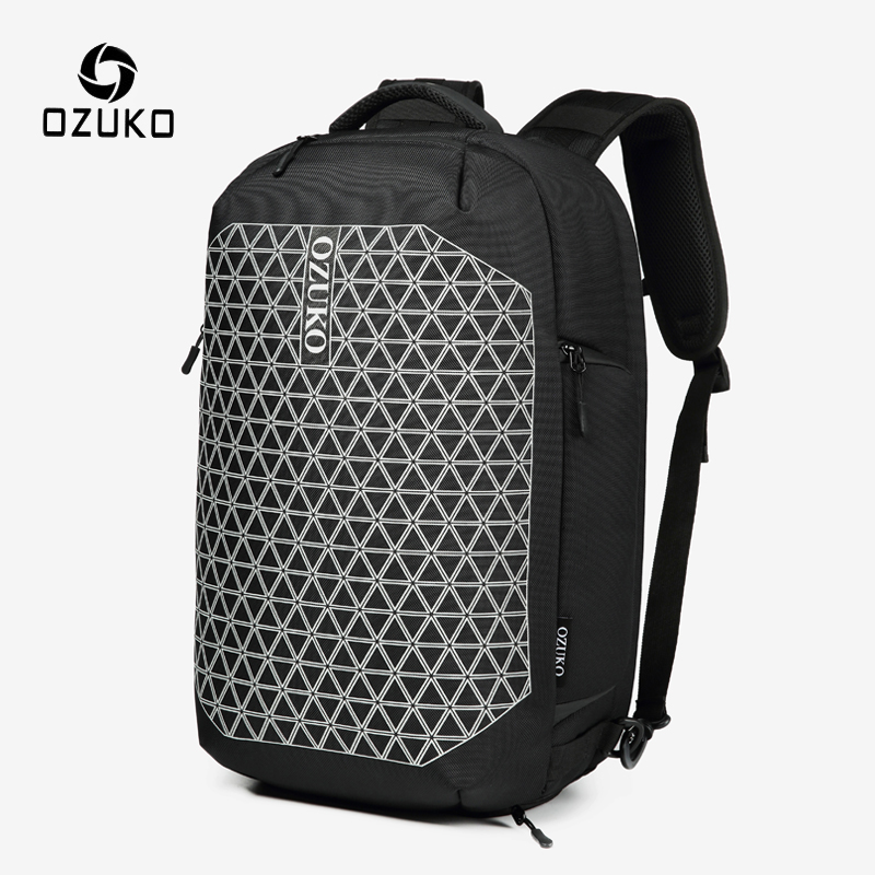 OZUKO Anti Theft Men Backpack School Bag For Teenager Male 15.6 Inch Laptop Backpacks With Shoe Bag Waterproof Travel Mochila